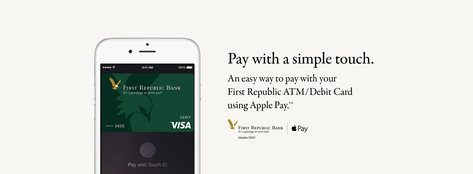 apple pay faqs | first republic bank