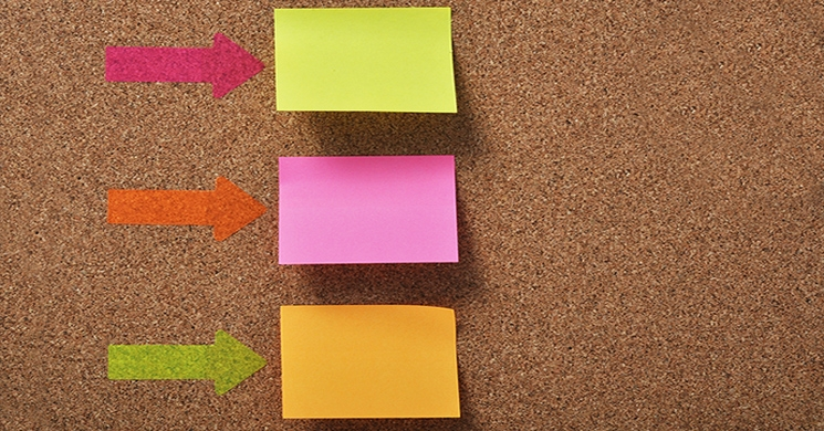 Three blank post-it notes represent three benefits to funding your 401k in 2018.