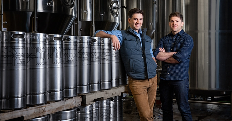 an image of justin catalana and his brother tyler, co-founders of san francisco's fort point beer company