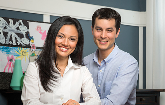 First Republic clients Christina Pham, M.D. and Johannes Kratz, M.D.